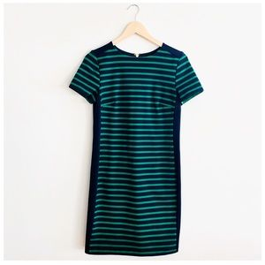 Michael Kors Navy & Green Striped Dress